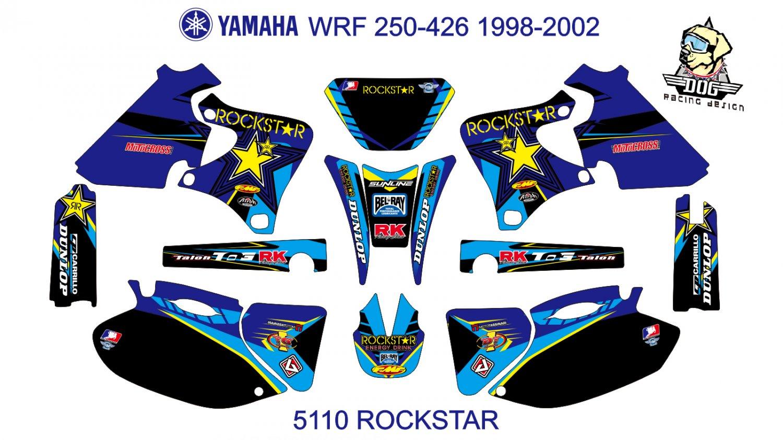 YAMAHA WRF 250-426 1998-2002 GRAPHIC DECAL KIT CODE.5110
