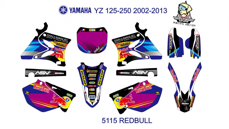 YAMAHA YZ 125-250 2002-2013 GRAPHIC DECAL KIT CODE.5115