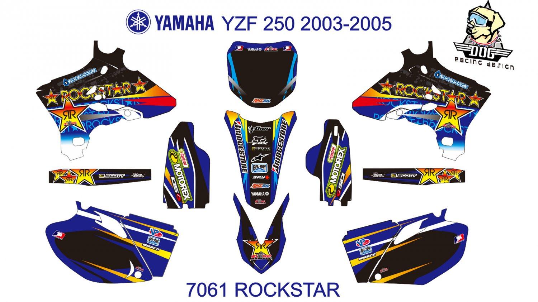 YAMAHA YZF 250 2003-2005 GRAPHIC DECAL KIT CODE.7061