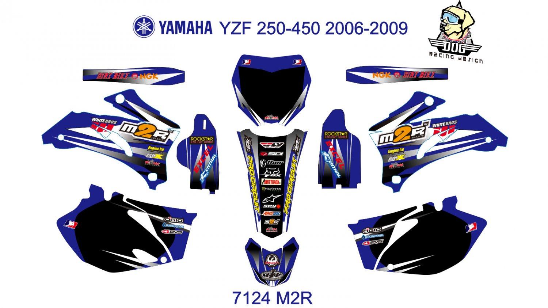 YAMAHA YZF 250-450 2006-2009 GRAPHIC DECAL KIT CODE.7124