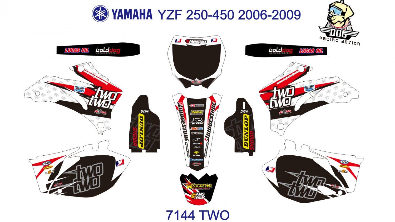 YAMAHA YZF 250-450 2006-2009 GRAPHIC DECAL KIT CODE.7144