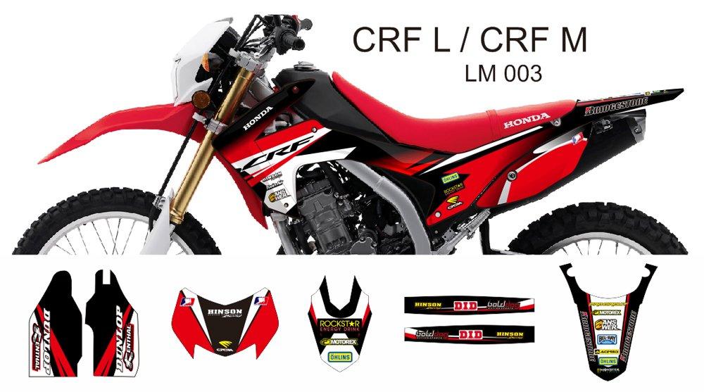 HONDA CRF L CRF M 2013-2014 GRAPHIC DECAL KIT CODE.LM 003