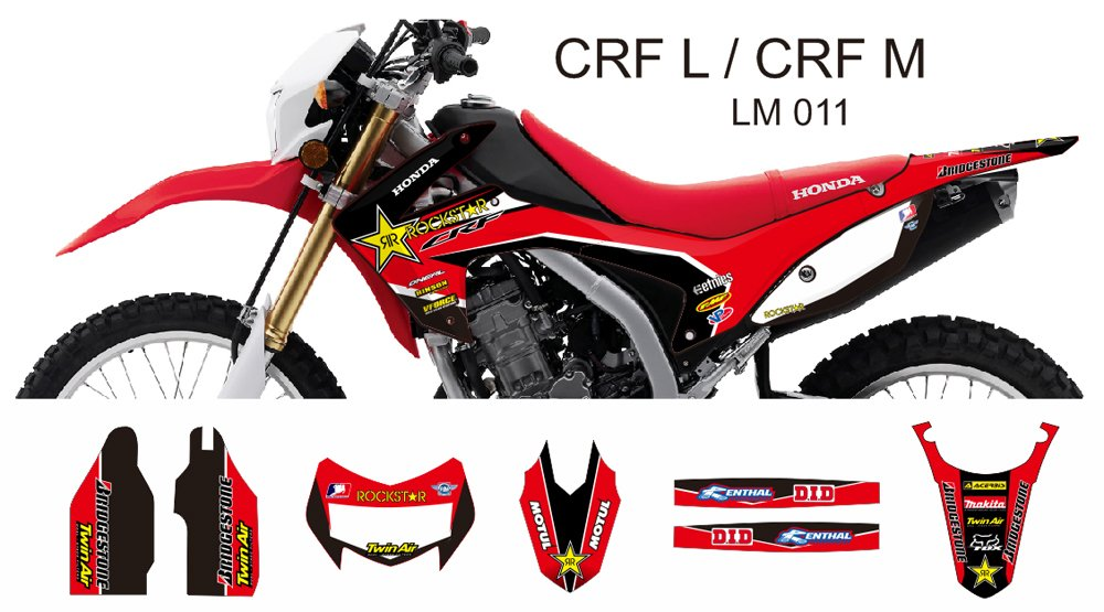 HONDA CRF L CRF M 2013-2014 GRAPHIC DECAL KIT CODE.LM 011