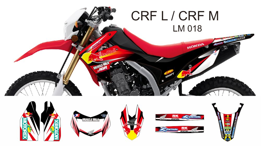 HONDA CRF L CRF M 2013-2014 GRAPHIC DECAL KIT CODE.LM 018