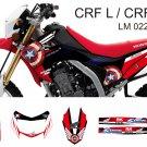 HONDA CRF L CRF M 2013-2014 GRAPHIC DECAL KIT CODE.LM 022