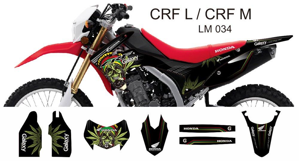HONDA CRF L CRF M 2013-2014 GRAPHIC DECAL KIT CODE.LM 034