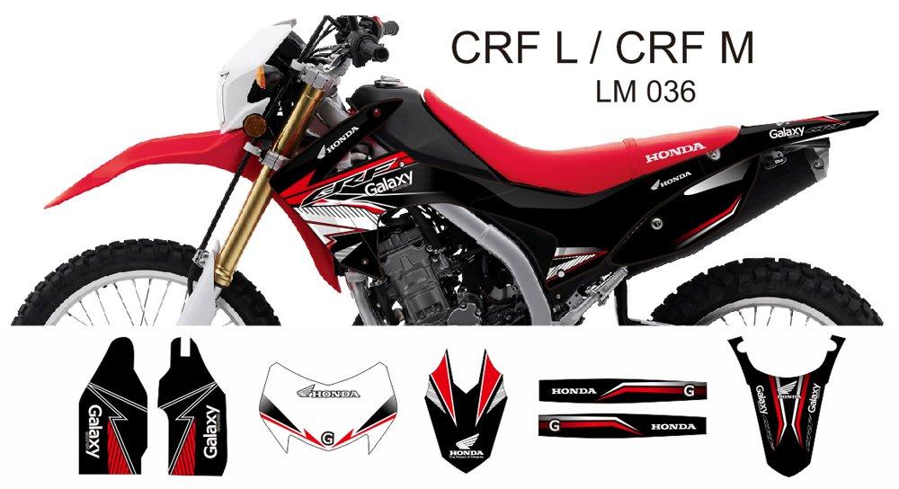 HONDA CRF L CRF M 2013-2014 GRAPHIC DECAL KIT CODE.LM 036