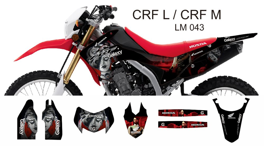 HONDA CRF L CRF M 2013-2014 GRAPHIC DECAL KIT CODE.LM 043