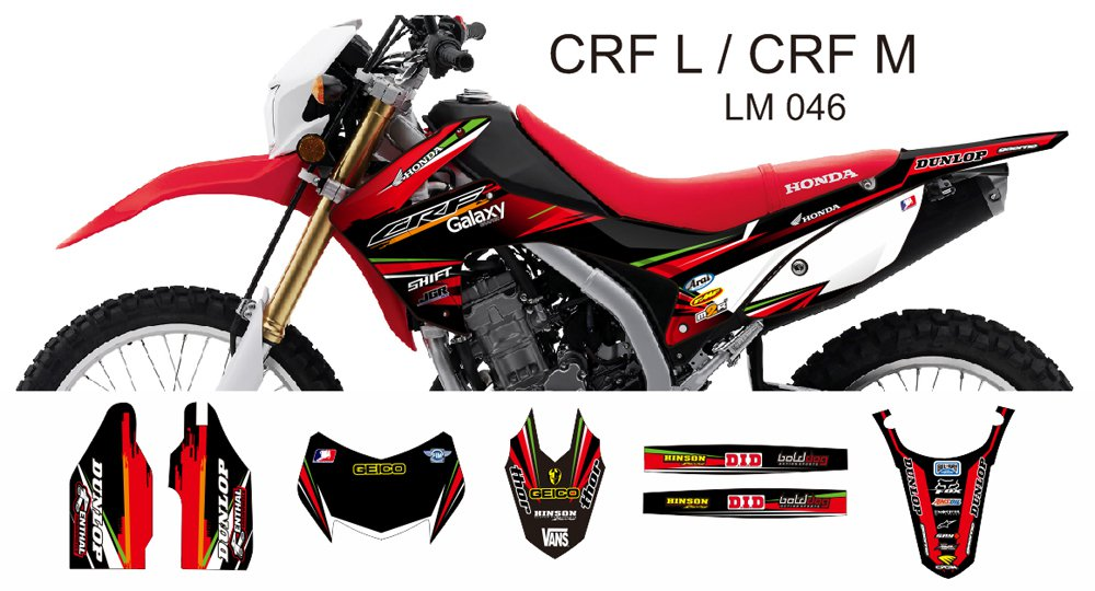 HONDA CRF L CRF M 2013-2014 GRAPHIC DECAL KIT CODE.LM 046