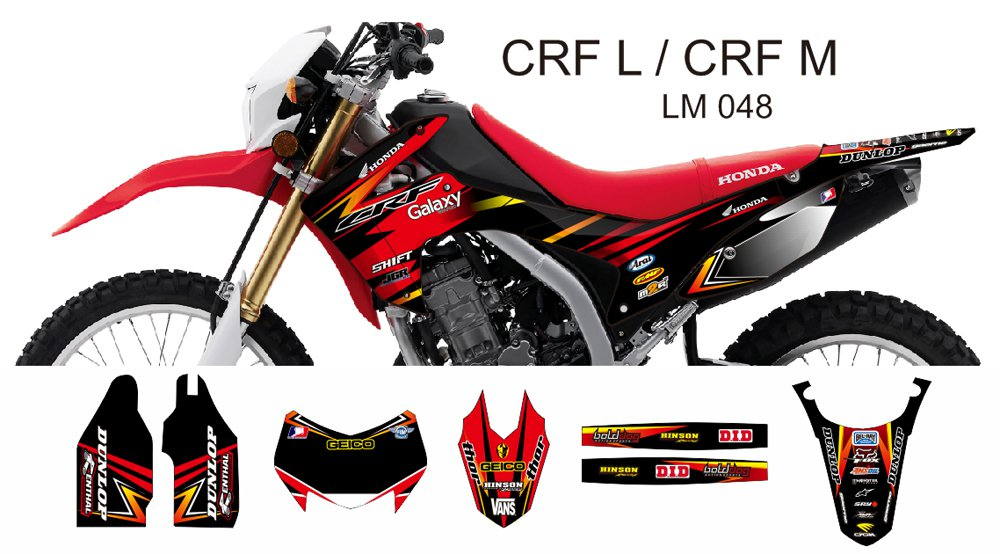 HONDA CRF L CRF M 2013-2014 GRAPHIC DECAL KIT CODE.LM 048