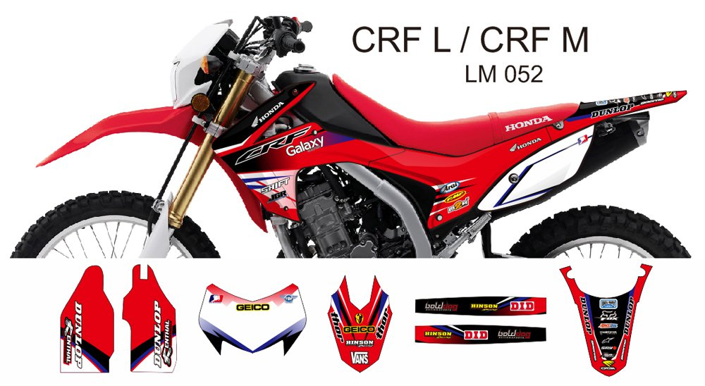 HONDA CRF L CRF M 2013-2014 GRAPHIC DECAL KIT CODE.LM 052