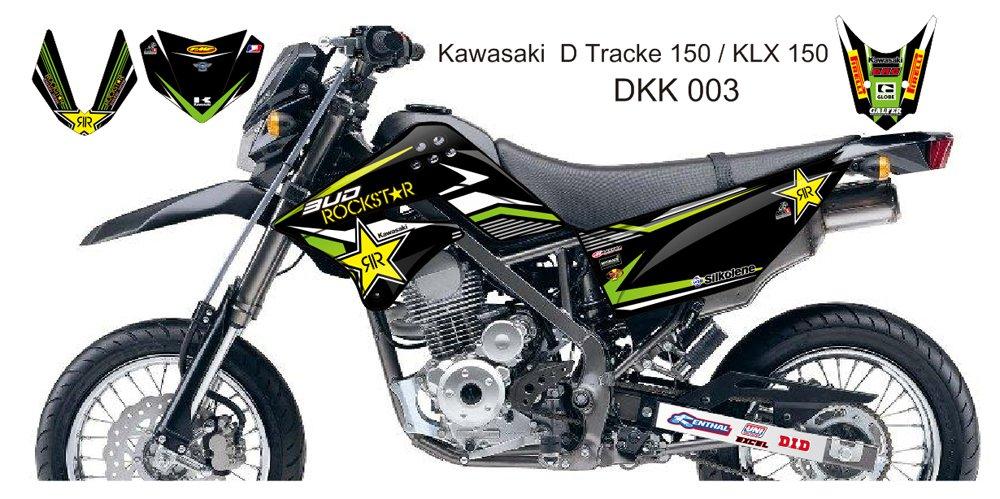 KAWASAKI D TRACKER 150 / KLX 150 GRAPHIC DECAL KIT CODE.DKK 003