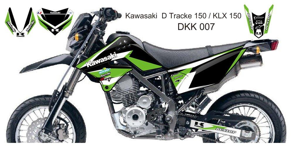 KAWASAKI D TRACKER 150 / KLX 150 GRAPHIC DECAL KIT CODE.DKK 007