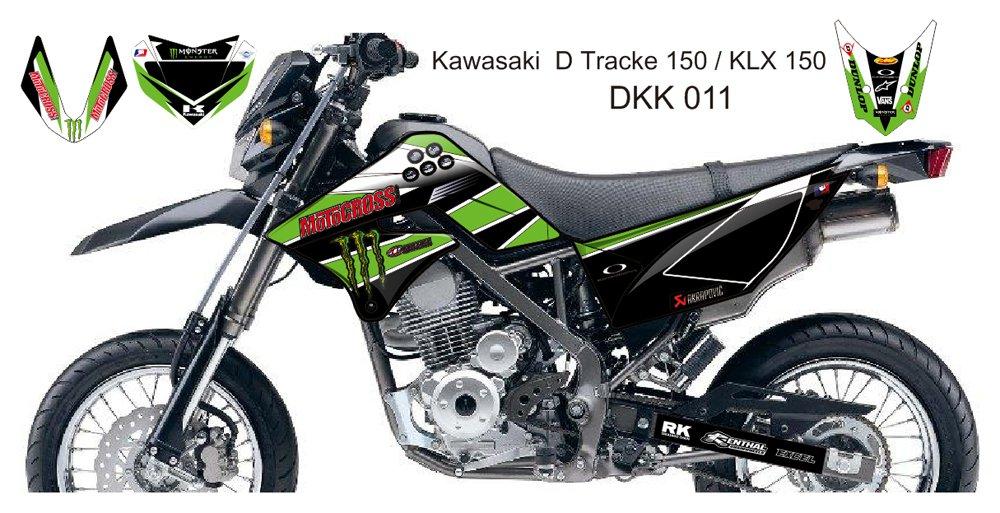KAWASAKI D TRACKER 150 / KLX 150 GRAPHIC DECAL KIT CODE.DKK 011