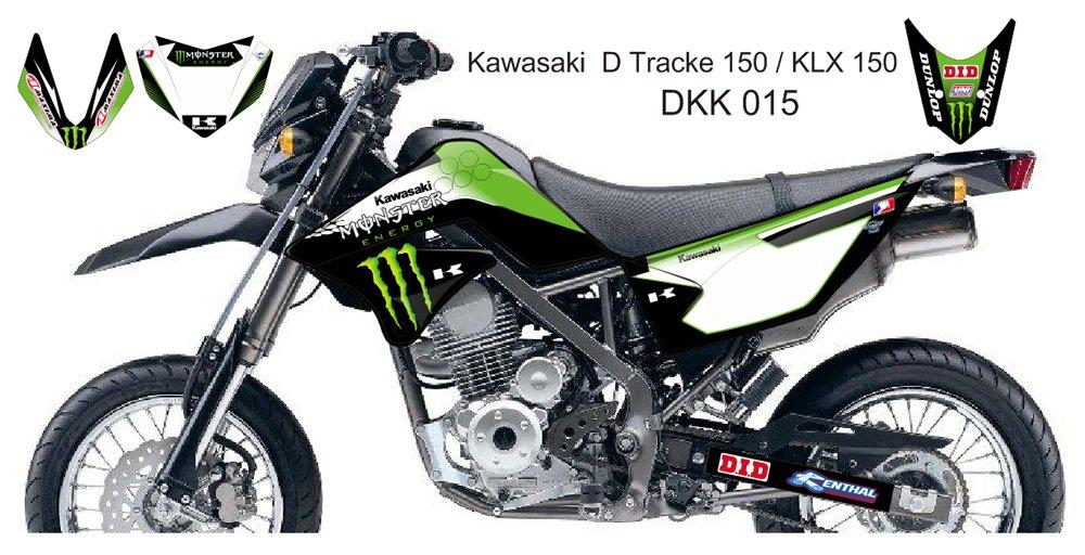 KAWASAKI D TRACKER 150 / KLX 150 GRAPHIC DECAL KIT CODE.DKK 015
