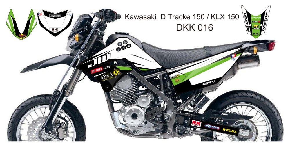 KAWASAKI D TRACKER 150 / KLX 150 GRAPHIC DECAL KIT CODE.DKK 016