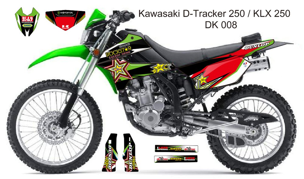 KAWASAKI D TRACKER 250 / KLX 250 GRAPHIC DECAL KIT CODE.DK 008