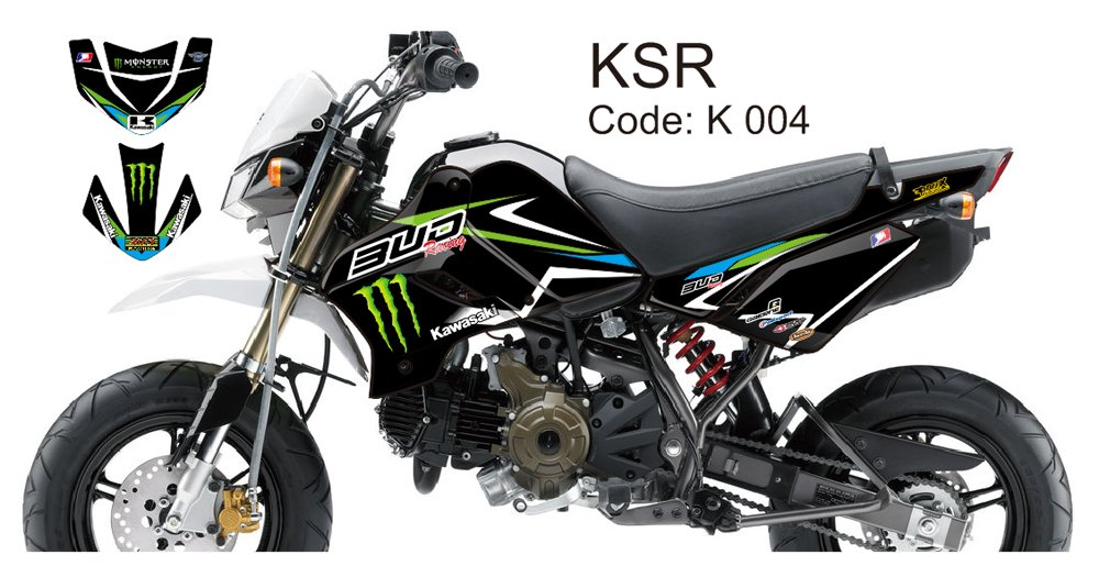 KAWASAKI KSR 2012-2014 GRAPHIC DECAL KIT CODE.K 004