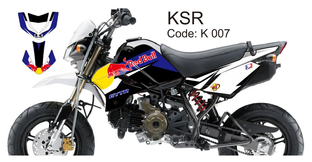 KAWASAKI KSR 2012-2014 GRAPHIC DECAL KIT CODE.K 007