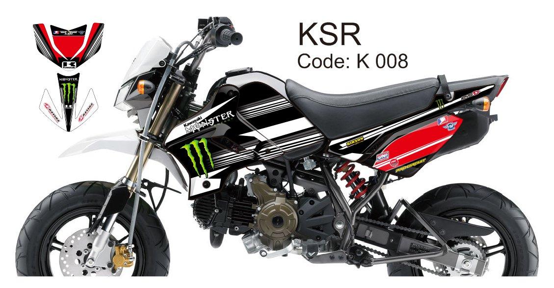 KAWASAKI KSR 2012-2014 GRAPHIC DECAL KIT CODE.K 008