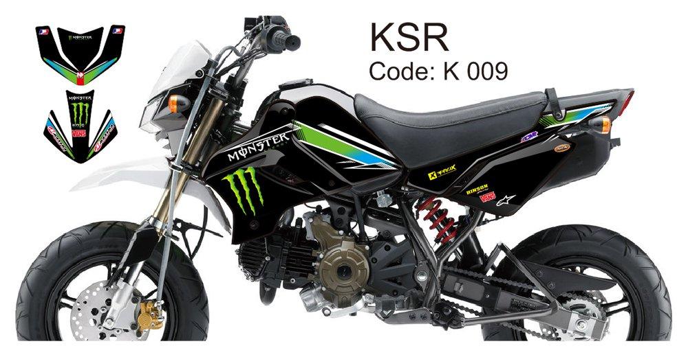 KAWASAKI KSR 2012-2014 GRAPHIC DECAL KIT CODE.K 009