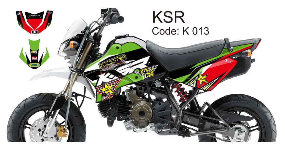 KAWASAKI KSR 2012-2014 GRAPHIC DECAL KIT CODE.K 013