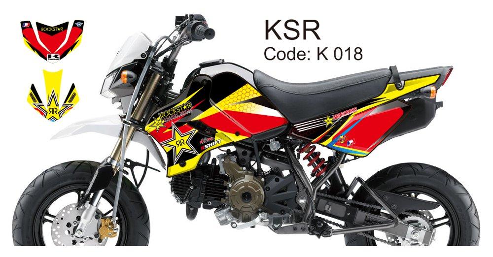 KAWASAKI KSR 2012-2014 GRAPHIC DECAL KIT CODE.K 018