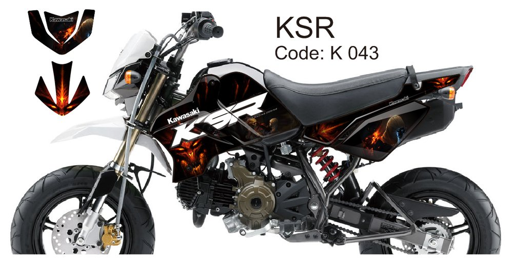KAWASAKI KSR 2012-2014 GRAPHIC DECAL KIT CODE.K 043