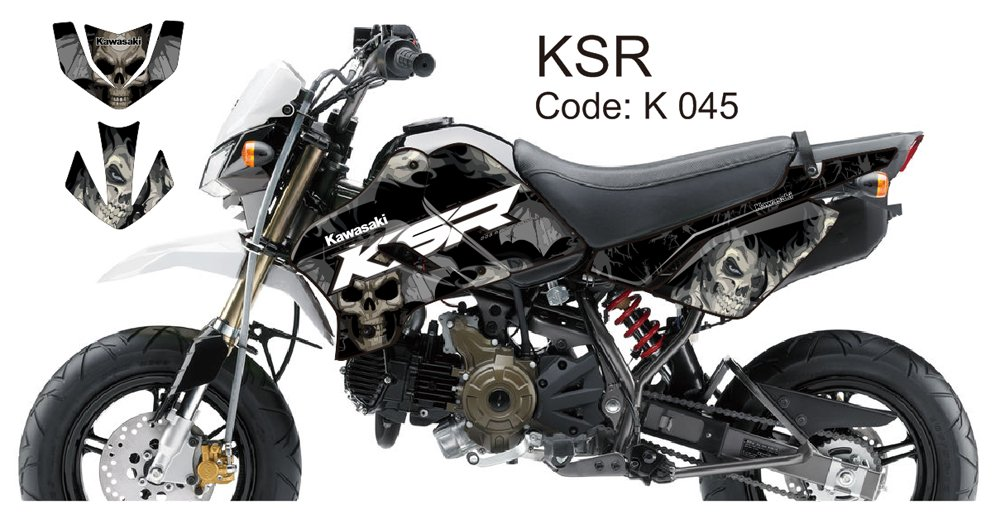 KAWASAKI KSR 2012-2014 GRAPHIC DECAL KIT CODE.K 045