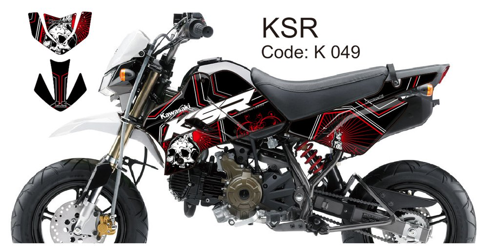 KAWASAKI KSR 2012-2014 GRAPHIC DECAL KIT CODE.K 049