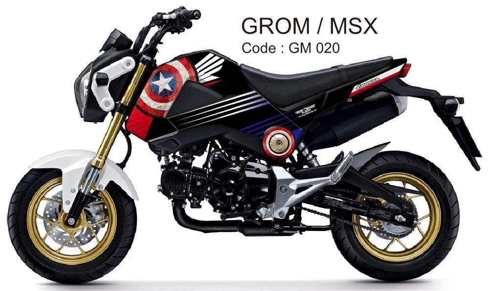 HONDA GROM 125 / MSX 125 GRAPHIC DECAL KIT CODE.GM 020