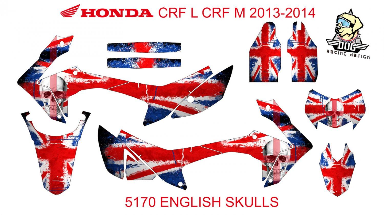 HONDA CRF L CRF M 2013-2014 GRAPHIC DECAL KIT CODE.5170