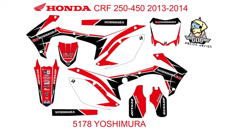 HONDA CRF 250-450 2013-2014 GRAPHIC DECAL KIT CODE.5178