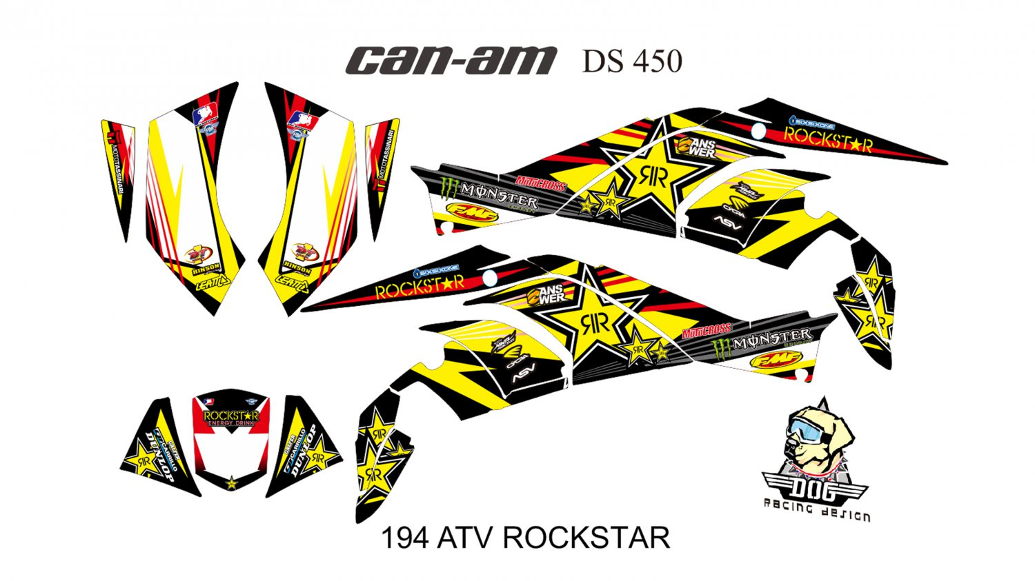 CAN AM DS 450 GRAPHIC DECAL KIT CODE.194