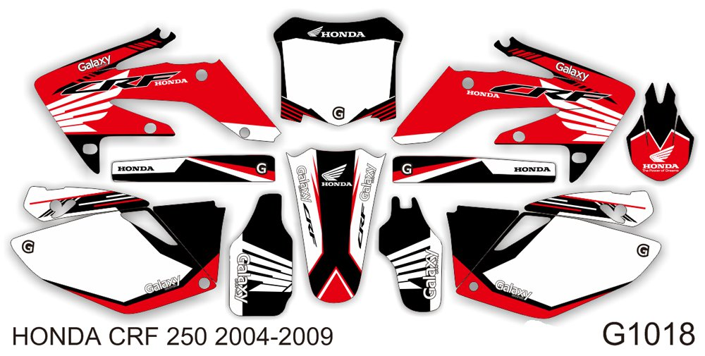 HONDA CRF 250 2006-2009 GRAPHIC DECAL KIT CODE.G1018