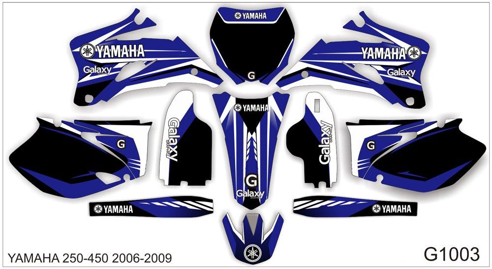 YAMAHA YZF 250-450 2006-2009 GRAPHIC DECAL KIT CODE.G1003