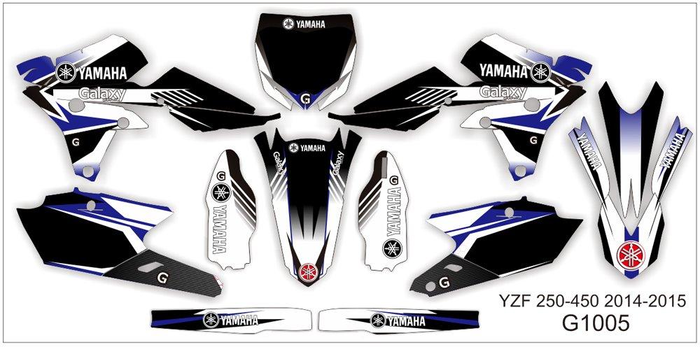 YAMAHA YZF 250-450 2006-2009 GRAPHIC DECAL KIT CODE.G1005