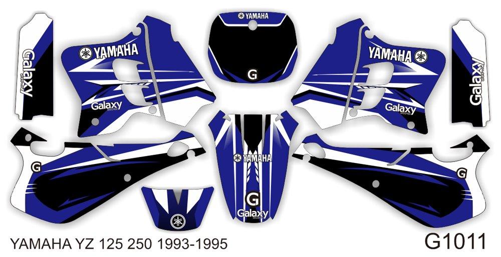 YAMAHA YZ 125 250 1993-1995 GRAPHIC DECAL KIT CODE.G1011