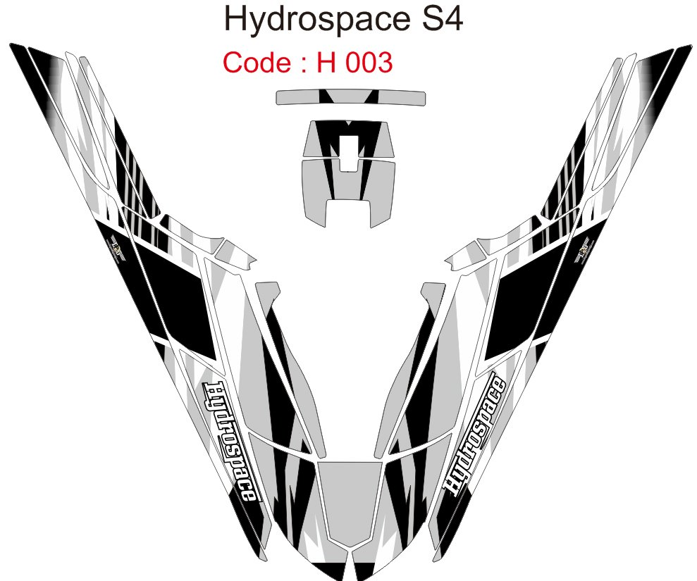 HYDROSPACE S4 JET SKI GRAPHIC DECAL KIT CODE.H 003