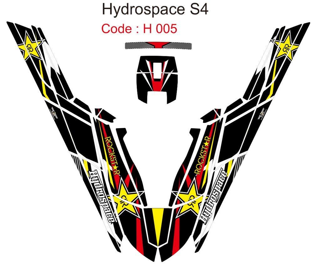 HYDROSPACE S4 JET SKI GRAPHIC DECAL KIT CODE.H 005