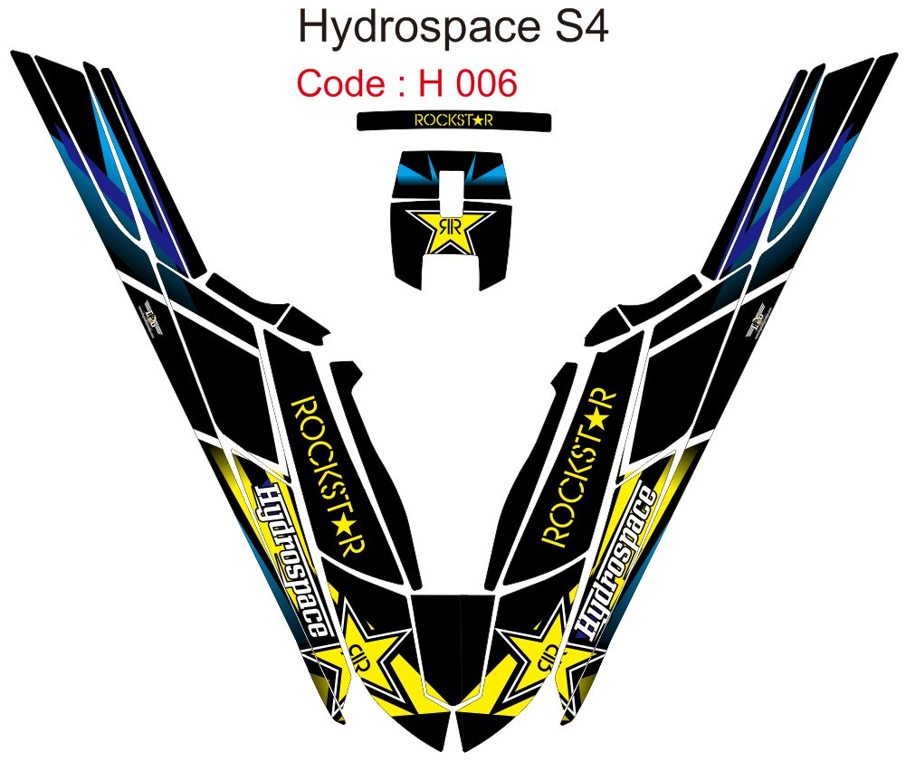 HYDROSPACE S4 JET SKI GRAPHIC DECAL KIT CODE.H 006