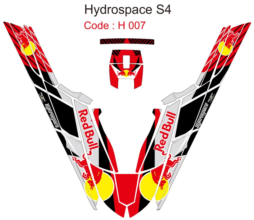 HYDROSPACE S4 JET SKI GRAPHIC DECAL KIT CODE.H 007
