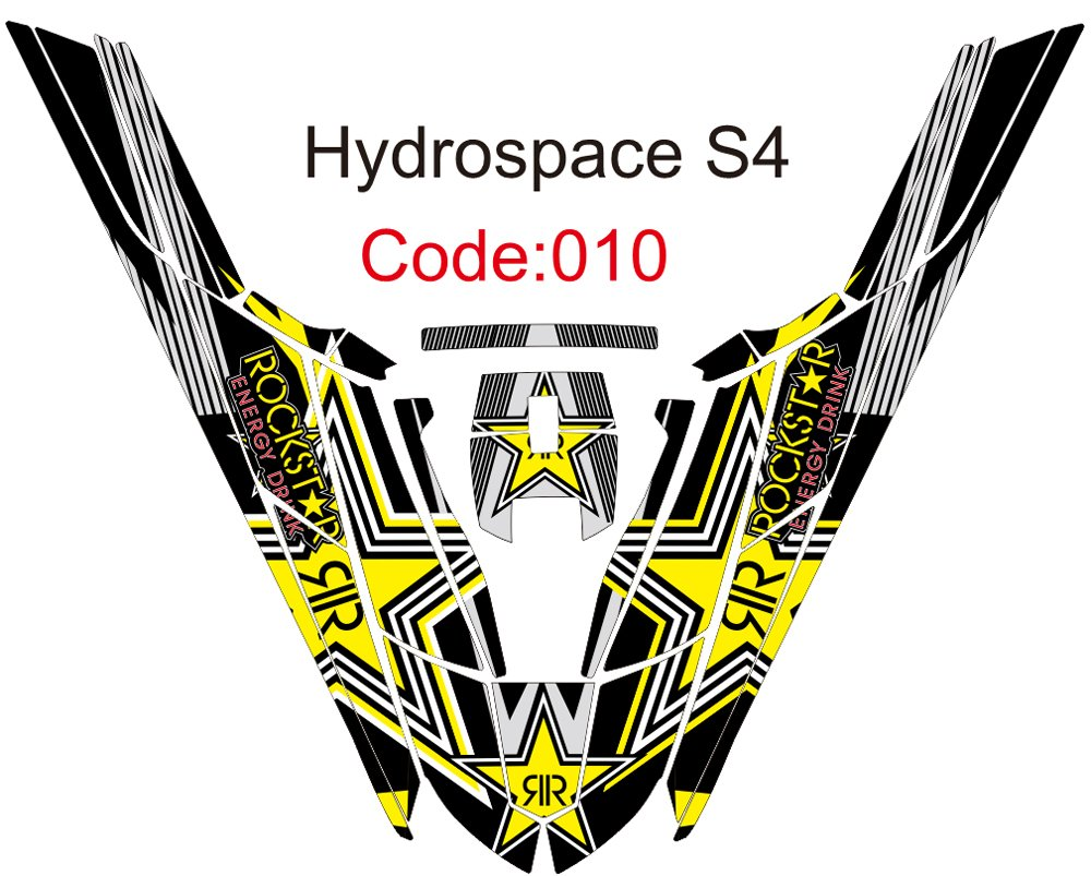 HYDROSPACE S4 JET SKI GRAPHIC DECAL KIT CODE.H 010