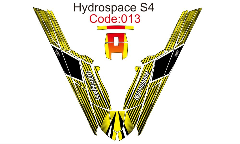 HYDROSPACE S4 JET SKI GRAPHIC DECAL KIT CODE.H 013
