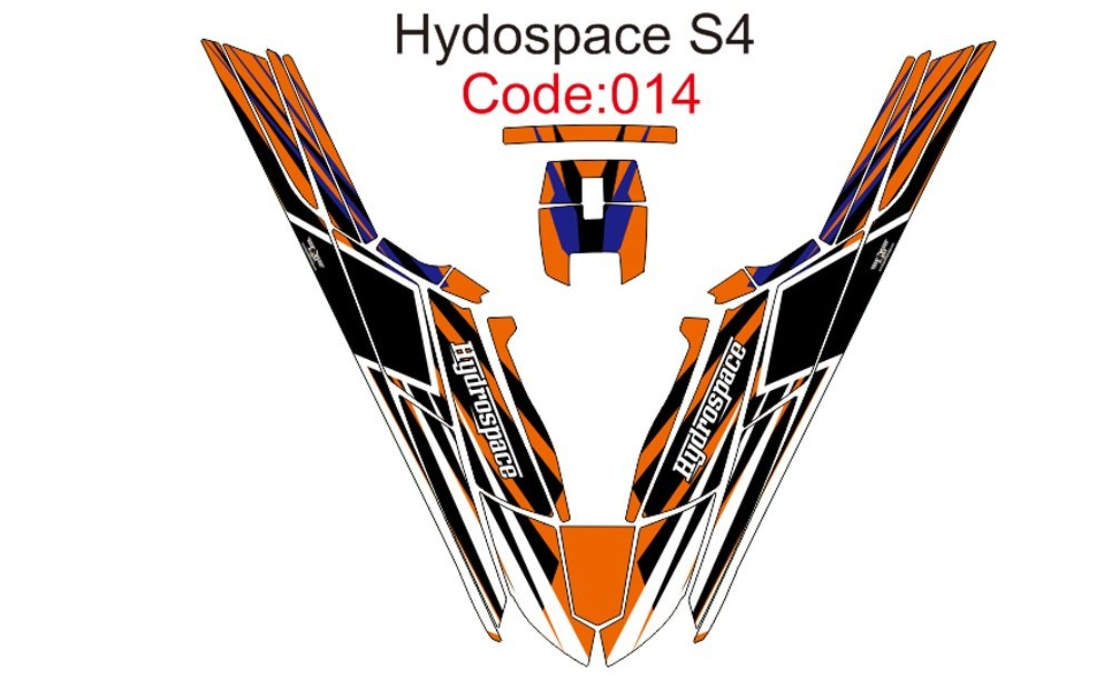 HYDROSPACE S4 JET SKI GRAPHIC DECAL KIT CODE.H 014