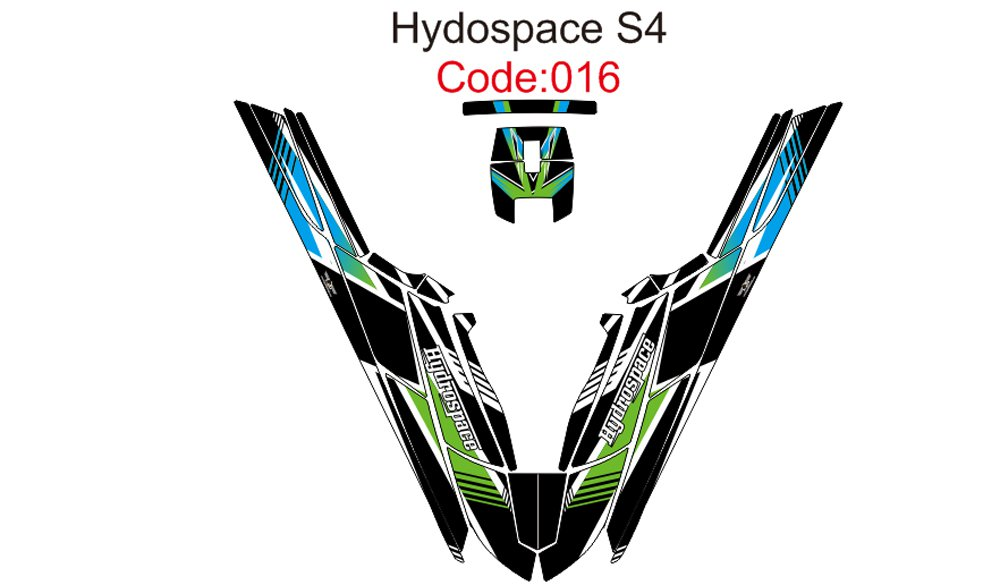 HYDROSPACE S4 JET SKI GRAPHIC DECAL KIT CODE.H 016
