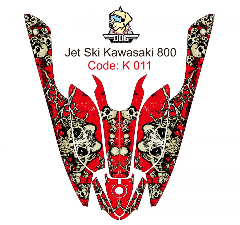 KAWASAKI 800 JET SKI GRAPHIC DECAL KIT CODE.K 011