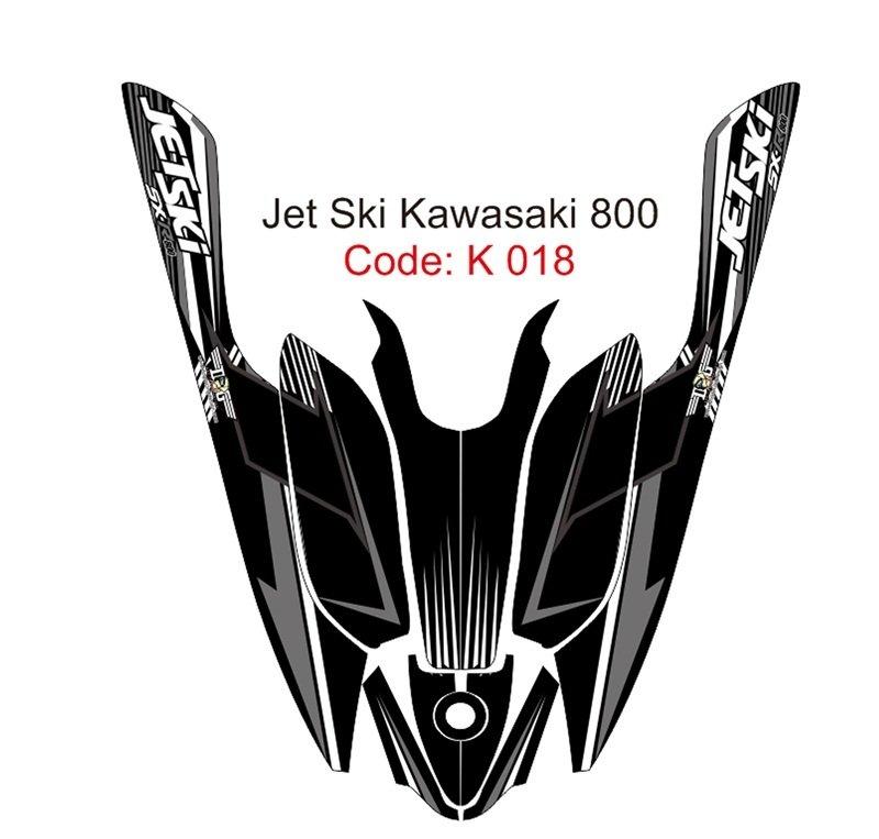 KAWASAKI 800 JET SKI GRAPHIC DECAL KIT CODE.K 018
