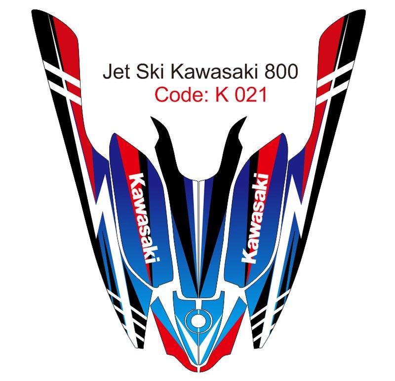 KAWASAKI 800 JET SKI GRAPHIC DECAL KIT CODE.K 021