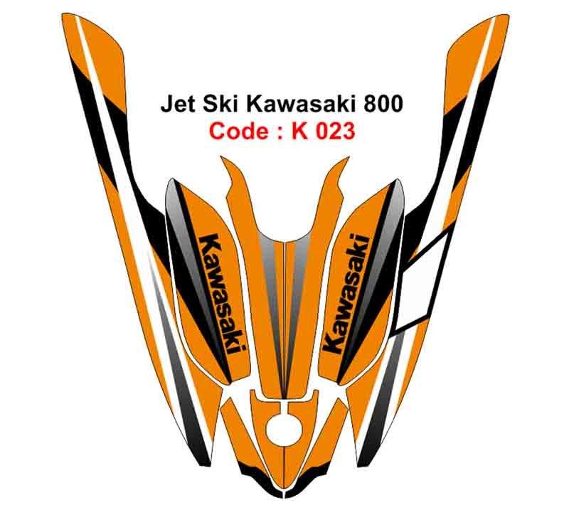 KAWASAKI 800 JET SKI GRAPHIC DECAL KIT CODE.K 023